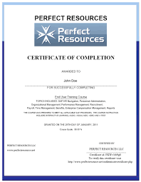 sap hcm consultant training print out your completion certificate and add it to your résumé