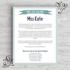 Meet The Teacher Letter Templates Meet The Teacher Template For Word Us Letter And A4 Sizes Included 2 Color Schemes Instant Download