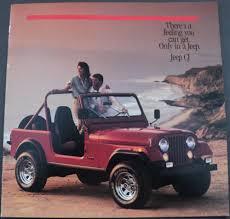 1986 jeep cj renegade laredo original dealer s brochure