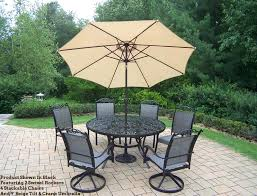 60 round patio table captivating umbrella patio dining sets cascade 9 patio dining set round umbrella