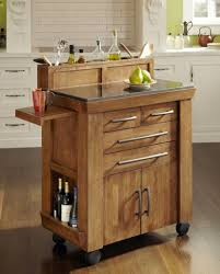 Wine Carts Cabinets Kitchen Appliances Exquisite Rectangle Shape Brown Color Wooden