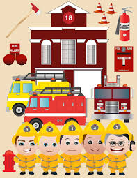 Firefighter Cupcake Decorations Firefighter Clipart Etsy