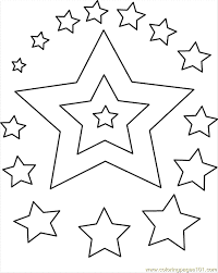 Small Picture Stars Coloring Coloring Page Free Shapes Coloring Pages
