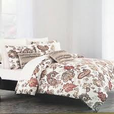 nicole miller king duvet set dune white