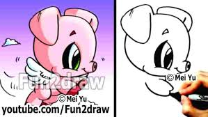 how to draw a cute pig for beginners a pig with wings piglet free clip how