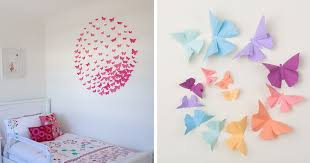on wall decoration art and craft with i make 3d paper wall decorations to fix boring flat walls bored panda