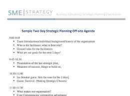Sample Of Agenda Sample Strategic Planning Agenda 2 Days