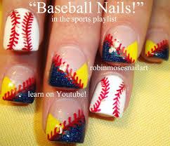 Easy Nail Art for Beginners - Baseball Nails DIY Tutorial - YouTube