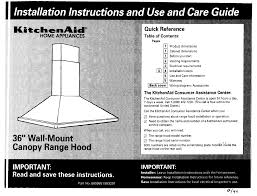 kitchenaid ventilation hood 883297 user guide manualsonline com product dimensions