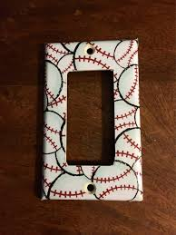 Sports Light Switch Plates Baseball Theme Light Switch Plates And Outlets Man Cave
