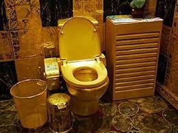 Gold Bathroom The 10 Weirdest Celebrity Bathrooms Toilets The Ojays And Style