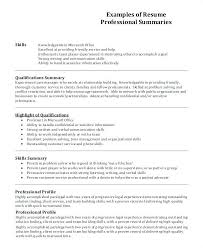 Examples Of Summaries For Resumes How To Write A Summary In A Resume Sample Professional Resume
