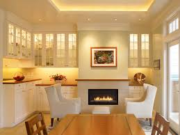 interior cabinet lighting. marvelous dining room design with led under cabinet lighting applied mounted wall fireplace two white interior