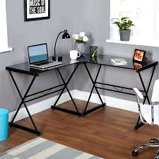 luxury l shaped glass computer desk desk realspace mezza l shaped glass computer desk black chrome