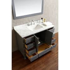 Real wood bathroom vanities Bathroom Sink Vincent 48 Inch Solid Wood Single Bathroom Vanity In Charcoal Grey For Appealing Bathroom Furniture Ideas Trulysocialappscom Bathroom Using Dazzling Single Bathroom Vanity For Bathroom