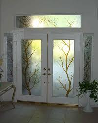 image of decorative glass exterior door