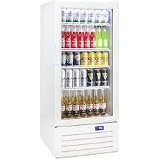 schmick upright 1 door commercial glass front short profile bar fridge