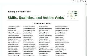Action Verbs For Resume Powerful Captures Words Use In Power Project
