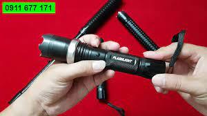 Đèn pin chích điện, roi điện tự vệ T10 Xmen hàng cao cấp loại 1 - YouTube