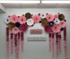 Homemade Paper Flower Decorations Paper Flower Wall Decorations Under Fontanacountryinn Com