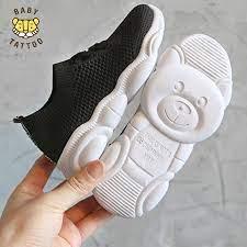 Giày thể thao thời trang cho bé trai và bé gái từ 1.5-2-3-4-5 tuổi, kiểu  dang thời trang Hàn Quốc, đế gấu