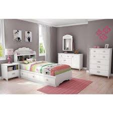 Kids White Bedroom Furniture Twin Bed Frame Fo 7461   ecobell.info
