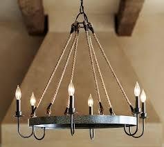 napa wine barrel wood metal chandelier