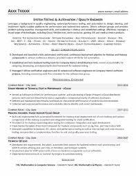 Quality Engineer Resume Mentallyright Org