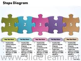 smartart powerpoint templates powerpoint jigsaw smartart business five improvement steps puzzle