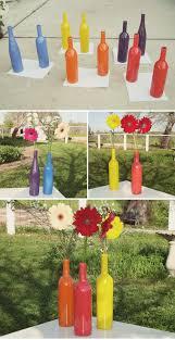 diy wine bottle pop art centerpieces