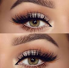 love this eye makeup perfectly golden with lashes need to learn how to do