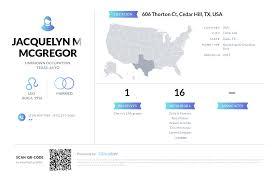 Jacquelyn M Mcgregor, (972) 291-3660, 606 Thorton Ct, Cedar Hill ...