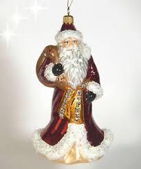 Details Zu Ein Christbaumschmuck Glas Christbaumkugel Weihnachtsmann Mit Sack 14 Cm