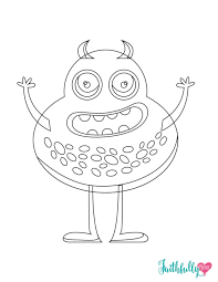 Small Picture Monster Coloring Pages Free Printables Faithfully Free