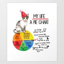 My Life A Pie Chart Of A Cat Lover Art Print