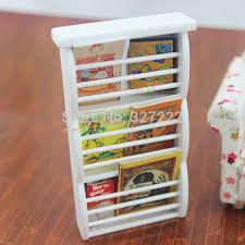 Newspaper rack 1 Display Rack Wooden Newspaper Magazine Rack Display Stand Cabinet Dollhouse Miniature 112 Mini Caivanoculturainfo Wooden Newspaper Magazine Rack Display Stand Cabinet Dollhouse