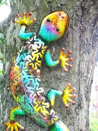 Solar Light Gecko Wall Art Amazon Com Christmas Concepts 53cm Colourful Metal Gecko