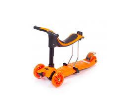 <b>Самокат</b>-толокар <b>трехколесный Mobile</b> Kid Multico оранжевый ...