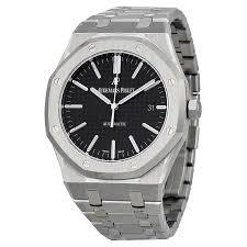 audemars piguet royal oak black dial stainless steel bracelet audemars piguet royal oak black dial stainless steel bracelet men s watch 15400stoo1220st01