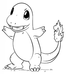 Pokemon Printable Coloring Pages Charmander Page Free
