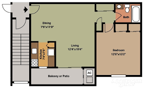 one bedroom house plans. Canal House 1 Bedroom Floor Plan One Plans