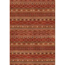 orian rugs wild west red indoor southwestern area rug common 8 x 11