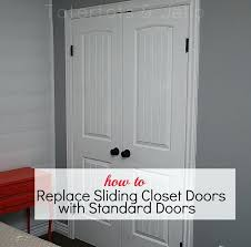 how to install closet doors how to replace closet doors with standard installing closet doors on