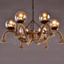 6 light vintage retro pendant lights with glass shade for hallway living room