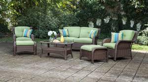 Sawyer 6pc Resin Wicker Patio Furniture Conversation Set Green