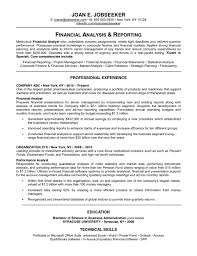 Good Resume Financial Analysis And Reporting Professional