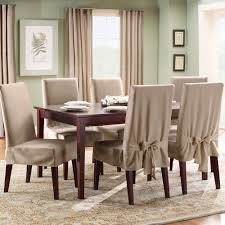 sure fit slipcovers cotton duck short dining chair cover shorty
