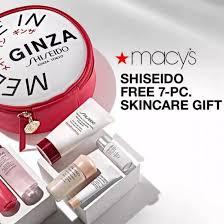 free 7 pc skincare gift 101 value w shiseido purchase
