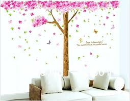 cherry blossom tree decal large pink cherry blossom tree wall decals removable art home wall stickers