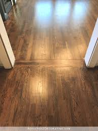 light oak wood flooring. Refinished Red Oak Hardwood Floors - Kitchen And Living Room Light Wood Flooring